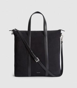 Reiss Huxley - Suede Tote Bag in Navy