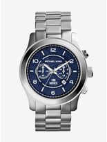 Michael Kors Watch Hunger Stop Oversized Runway Silver Watch