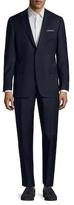 Hickey Freeman Wool Micro Check Notch Lapel Suit