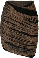 Balmain fitted fringe skirt