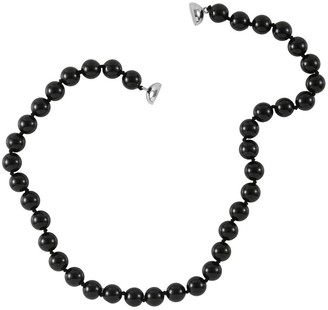 Shop Lc 925 Sterling Silver Black Tourmaline Beaded Necklace ct 384.5 - Size 18''