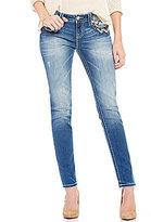 Miss Me Skinny-Fit Mid-Rise Embellished Pocket Denim Jeans