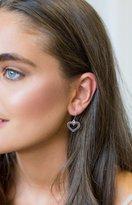 Karen Walker Heart Earrings Silver