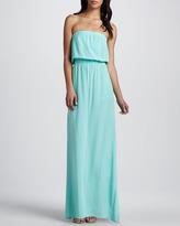 Splendid Strapless Waterfall Maxi Dress