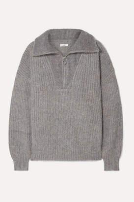 Etoile Isabel Marant Myclan Ribbed-knit Sweater - Gray