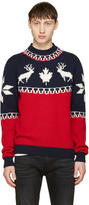 DSQUARED2 Tricolor Reindeer Sweater