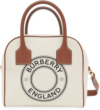 Burberry Small Logo-Print Cube Bag