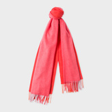 Paul Smith Women's Red Ombré Lambswool-Cashmere Scarf