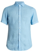Glanshirt Eddie short-sleeved linen shirt