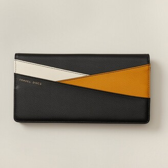Love & Lore Love And Lore Colourblock Travel Wallet Black & Yellow
