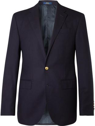Polo Ralph Lauren Navy Slim-fit Unstructured Linen-blend Blazer - Blue