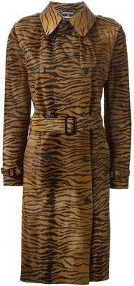 Alexander McQueen Pre-Owned 2003 zebra print trench coat