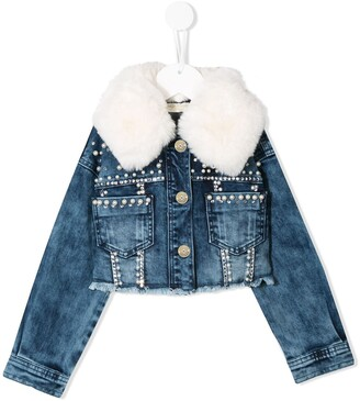 MonnaLisa Embellished Denim Jacket