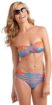 Nanette Lepore Bejeweled Twist Bandeau Swim Top