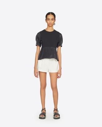 3.1 Phillip Lim Satin Combo T-Shirt