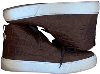 Louis Vuitton Brown Leather Trainers