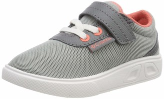 Columbia Girls' Childrens Spinner Trainers Grey (Earl Grey Hot Coral 025) 7 (25 EU)