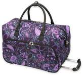 Ricardo Beverly Hills Mar Vista 20-Inch Rolling Duffle in Purple Paisley