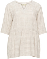 Isolde Roth Plus Size Cotton and Linen-blend tunic