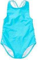 Ralph Lauren Cross-Back One-Piece Swimsuit