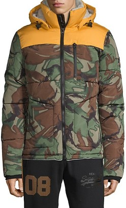 Superdry Printed Faux Fur-Lined Hooded Jacket