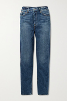 GRLFRND Devon High-rise Straight-leg Jeans - Mid denim