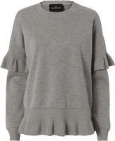 Designers Remix Grace Ruffle Sweatshirt Grey S