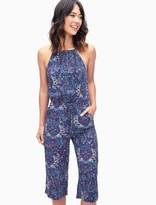 Splendid Kloe Paisley Cropped Jumpsuit