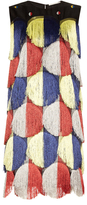 Marco De Vincenzo Tassel embroidered organza dress