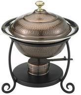 Old Dutch 1.75 Qt. Round Antique Copper Chafing Dish