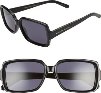 Marc Jacobs 56mm Rectangle Sunglasses