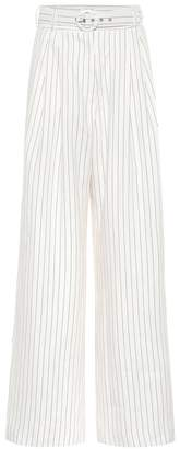Zimmermann Corsage striped linen pants