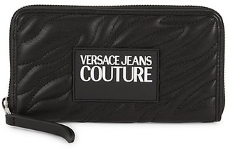 Versace Jeans Couture Logo-Patch Quilted Wallet