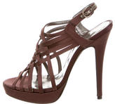 Barbara Bui Satin Multistrap Sandals
