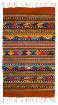 Novica Handcrafted Zapotec Wool 'Zapotec Fantasy' Rug (2x3) (Mexico)