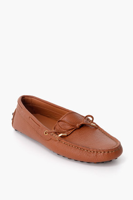 Poeta Cognac Leather Driving Moccasin