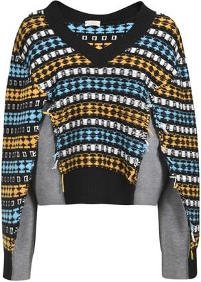 Mrz V-Neck Knitted Detail Jumper