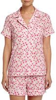 BedHead Dot-Print Shorty Pajama Set, Pink/White, Women's