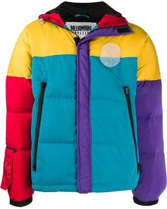 Billionaire Boys Club long sleeve block color puffer jacket