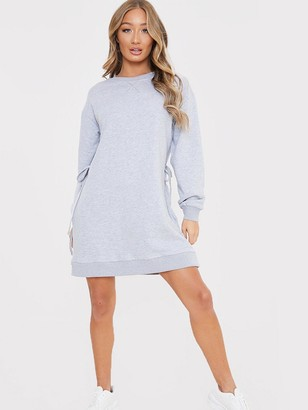 In The Style X Jac JossaCinched Waist Sweater Dress - Grey
