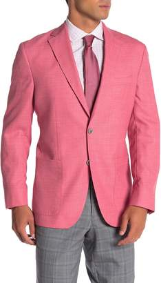 David Donahue Aiden Pink Two Button Notch Lapel Wool Suit Separates Jacket