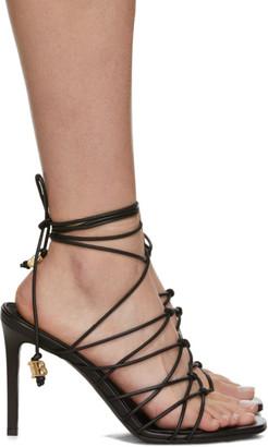 Balmain Black Mikki Lace-Up Sandals