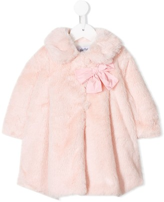 Aletta Faux-Fur Bow Detailed Coat
