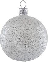 Christmas Shop Confetti Silver Ornament