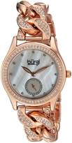 Burgi Women's Quartz Stainless Steel Casual Watch, Color:Rose Gold-Toned (Model: BUR177RG)