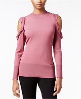Thalia Sodi Ruffled Cold-Shoulder Sweater, Only at Macy's
