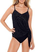 Magicsuit Alex Gold Leaf Side-Tie Tankini Swim Top