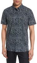 Ted Baker Men's Calous Slim Fit Flower Print Sport Shirt