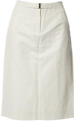 Maison Margiela Ecru Cotton Skirt for Women