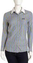 Superdry Double-Collar Striped Shirt